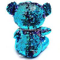 Мягкая игрушка Медвежонок из пайеток-перевертышей Глазастики, фото 2