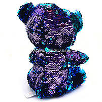 Мягкая игрушка Медвежонок из пайеток-перевертышей Глазастики, фото 3