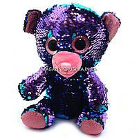 Мягкая игрушка Медвежонок из пайеток-перевертышей Глазастики, фото 4