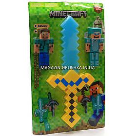 Набор фигурок «Minecraft» (Майнкрафт, 7 предметов), №1 27х3х45 см (JL 18334-2)