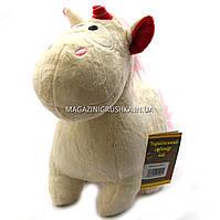 Мягкая игрушка «Пони-единорог 3», белый, мех искусственный, 35х13х30 см (25053-7)