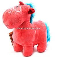 Мягкая игрушка «Пони-единорог 3», розовый, мех искусственный, 35х13х30 см (25053-7)