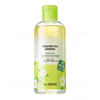 Двухфазная очищающая вода с маслом зеленого чая The Saem Healing Tea Garden Green Tea Oil In Cleansing, 300 мл