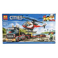 """Конструктор Bela Cities """"Перевозчик Вертолета"""" 322детали"""