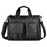 """Сумка мужская портфель """"Престиж черный"""" из натуральной кожи цвет черный, фото 1"""