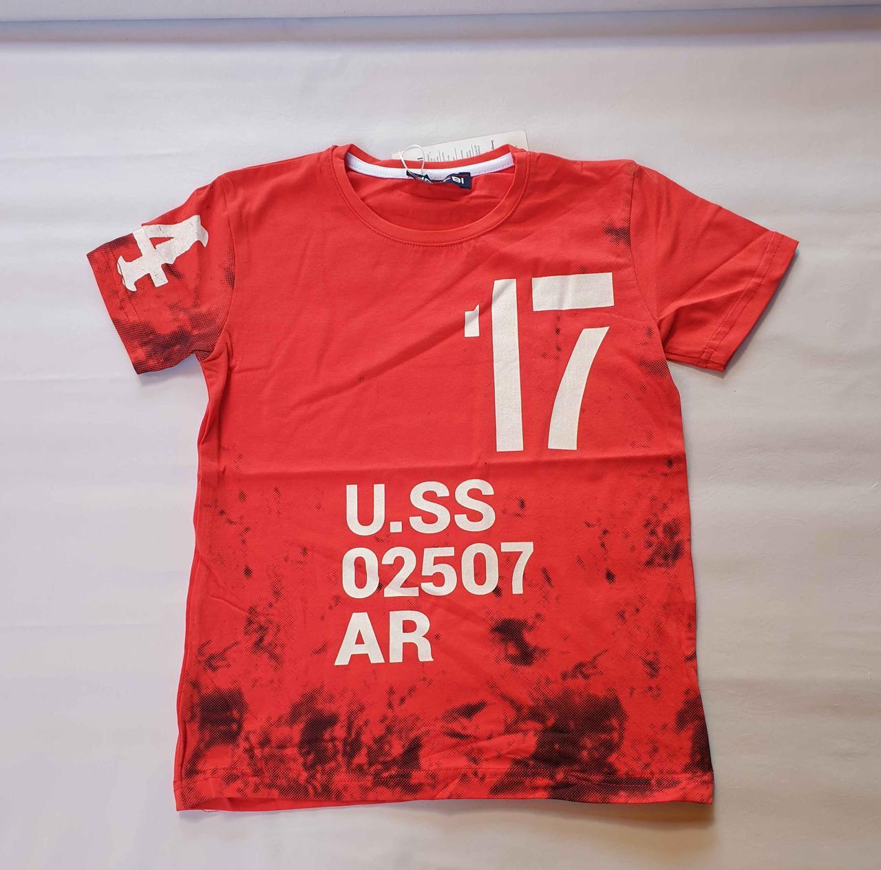 Футболка на мальчиков 152,158,164 роста U.SS красная