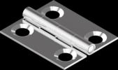50х60x0.8мм А2 Петля Metalvis [NM400NM48150506000]