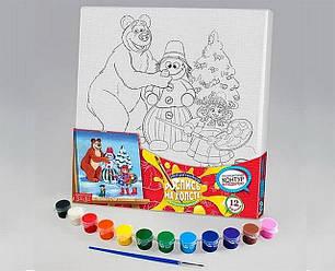 Картини розмальовки на полотні для дітей