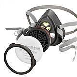 Напівмаска 3M ™ 3200 / 3M 320P промислова маска, респіратор з усіма фільтрами, фото 2