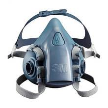 Маска 3М 7502 (полумаска, респиратор) для защиты органов дыхания (комплект без фильтров!)