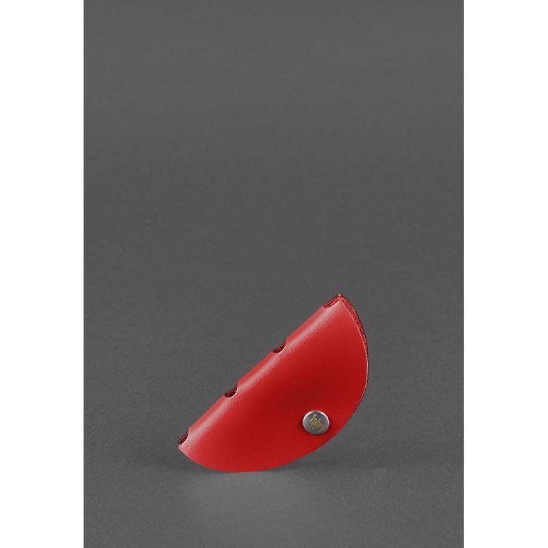 Кожаный холдер для наушников Красный