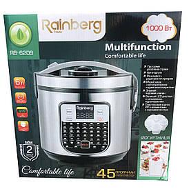 Мультиварка + йогуртница Rainberg RB 6209, 45 программ, 6 л