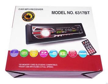 Магнитола Pioneer 6317 + Bluetooth USB,SD карта,ПУЛЬТ,AUX+FM (4x50)