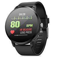 Фитнес часы Smart Watch V 11, с IPS дисплеем, тонометр, пульсометр, шагомер Черные