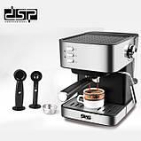 Кофемашина полуавтоматическая DSP Espresso Coffee Maker KA3028 с капучинатором, фото 4