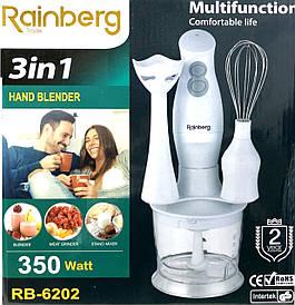 Блендер Rainberg RB - 6202 350W 3в1 погружной блендер измельчитель