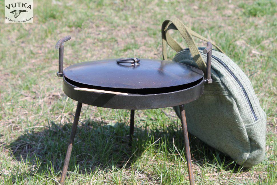 Сковорода из диска бороны 40 см с крышкой + чехол