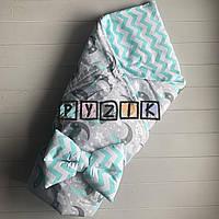 Конверт-одеяло двухсторонний, на съемном синтепоне, Полумесяц, фото 1
