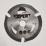Пильный диск. 125х22х3. EXPERT. трех зубый для УШМ. Диск пильный на болгарку. Дисковая пила., фото 2