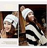 Женская зимняя шапка с бубоном, фото 3
