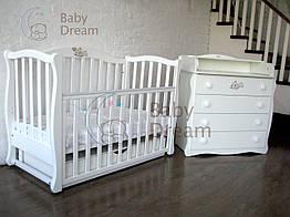Детская кроватка с пеленальным комодом Magic Design Baby Dream