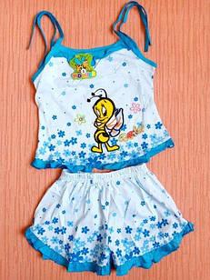 Костюмы детские маечка+шорты на девочек 1-5 лет. От 5шт по 30грн