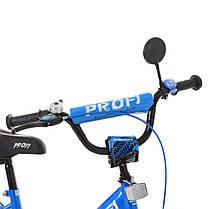 Велосипед детский PROF1 14 Д. XD1444 сине-черный, фото 3