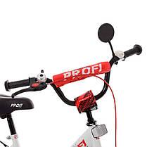 Велосипед детский PROF1 14 Д. XD1445 бело-красный, фото 2