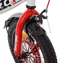 Велосипед детский PROF1 14 Д. XD1445 бело-красный, фото 3