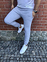 Мужские спортивные штаны однотон с манжетом Турция (С-ХЛ)