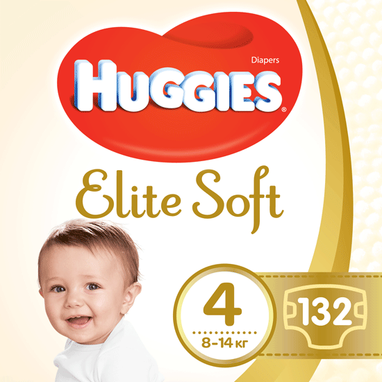 Підгузки Huggies Elite Soft 4 (8-14кг), 132шт