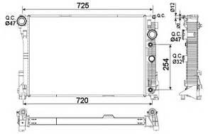 Радиатор охлаждения C (W204)/E (W212) (09-) АT LRc 15113 LUZARA2045003103 A2045003603 A2045004103 A2045001203