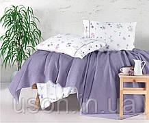 Комплект постельного белья с вафельным покрывалом 220*240 Pike TM Aran Clasy Metali V1