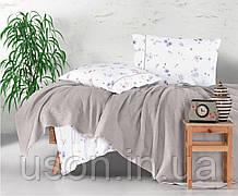 Комплект постельного белья с вафельным покрывалом 220*240 Pike TM Aran Clasy Metali V2