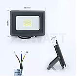 Светодиодный прожектор 30w SMD slim 6500K, фото 2