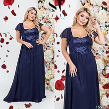 Святкова жіноча сукня шифонова максі довжини