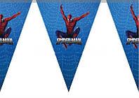 Гирлянда-флажки Спайдермен Человек паук