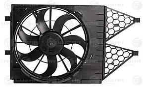 Вентилятор охлаждения Polo Sedan (10-)/ Rapid (12-) с кожухом (LFK 1853) Luzar 6R0959455C 6R0959455E