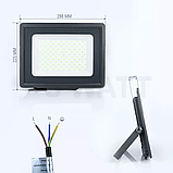Світлодіодний прожектор 100w SMD slim 6500K, фото 2