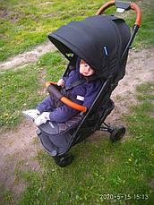 Детская прогулочная коляска книжка EL CAMINO M 3910-1 YOGA II. Черный, фото 2
