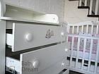 Кроватка с комодом-пеленатором Magic Design белый комплект, фото 6