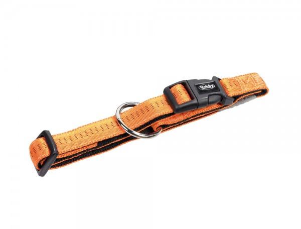 Ошейник для собак Nobby Soft Grip, оранжевый, 25-35/1,5 см