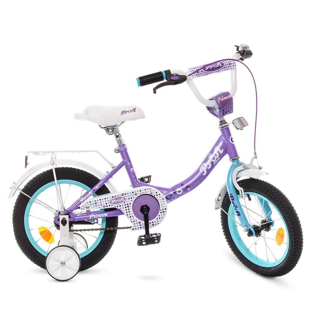 Велосипед детский PROF1 14 Д. Y1415 сиреневый
