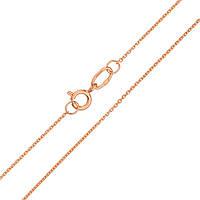 Золотая цепочка Канатка в красном цвете якорного плетения 000100149 40 размер