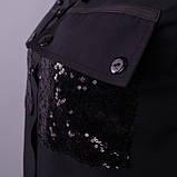 Глем. Нарядное платье-рубашка больших размеров. Черный+черный., фото 9