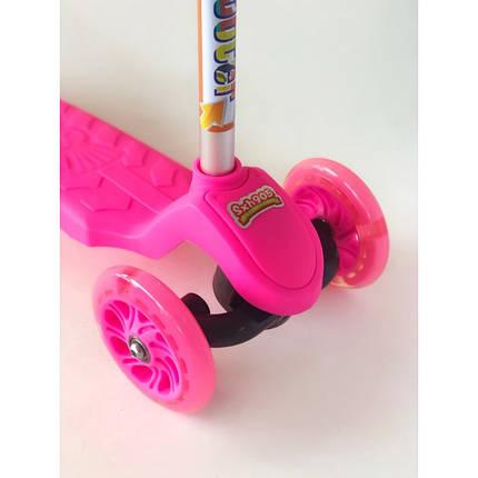 Самокат детский Scooter 905 с пропеллером   Розовый, фото 2