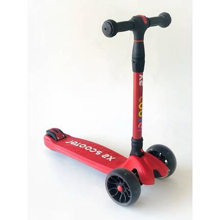 Самокат детский Scooter HH24A с подсветкой колес | Красный, фото 2