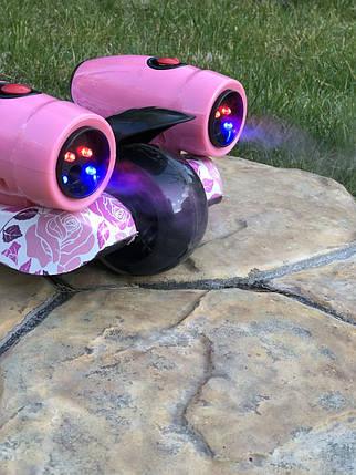 Самокат детский Scooter 305A с подсветкой колес, турбинами с паром и музыкой   Розовый, фото 2