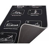 Коврик неопреновый LiveUp Neoprene Mat 180*60*6 мм для фитнеса, спорта и тренировок (LS3258)