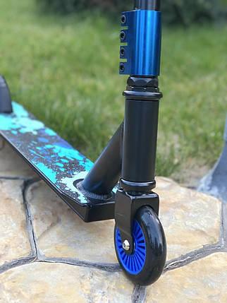 Самокат трюковий Scooter 300B | Синій, фото 2